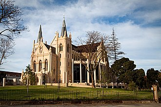 St Mary's Cathedral, Perth - The completed cathedral after repairs and expansion, pictured in July 2010
