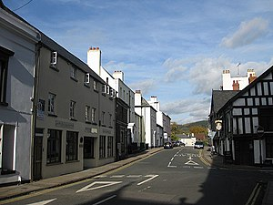 St James Street, Monmouth - St James Street with Queens Head to the right