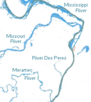 History of St. Louis (1763–1803) - Rivers in the St. Louis area
