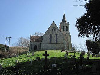 St Mary's Church, Brook - West face of the church