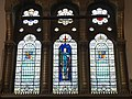 Stained glass above altar of St George the Martyr, Holborn.jpg