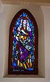 Stained glass window in the Galyatető Roman Catholic church with Saint Elisabeth.jpg