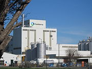 A Fonterra cooperative dairy factory in Australia.