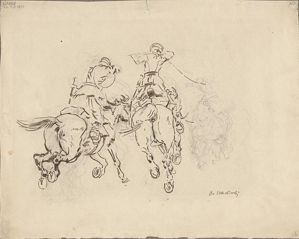 Stanisław Masłowski (1853-1926), Cossacs, ca 1900, drawing, 29 x 36,5 cm.jpeg