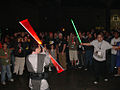 Star Wars Celebration IV - Celebration Dance Club Jedi lightsaber battle (4878897408).jpg