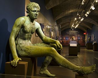 John Wanamaker - Statue (Reproduction) of Seated Hermes commissioned by John Wanamaker on display in the Penn Museum.