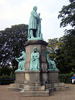 Hans Christian Ørsted - Statue of Ørsted in Ørstedsparken, in Copenhagen.