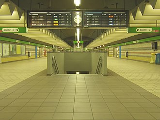 Milan suburban railway service - Image: Stazione Milano Garib passante mezzanino