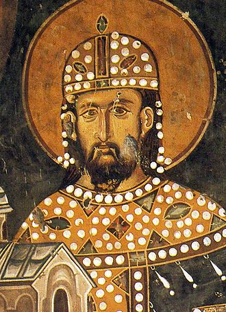 Stefan Dragutin - King Dragutin, (founder's portrait (fresco) in Saint Achillius Church, painted during his lifetime, around 1296)