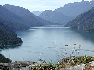 Lake Chelan - Lake Chelan with Stehekin on the lower left corner of picture.