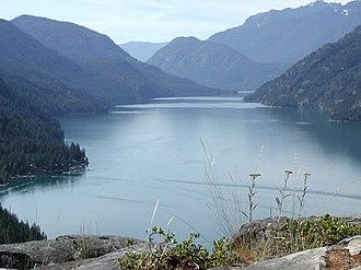 Lake Chelan - Lake Chelan with Stehekin on the lower left