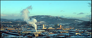 Steinkjer (town) - The town seen from the west