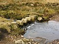 Stepping stones over moorland stream - geograph.org.uk - 1735780.jpg