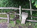 Stile on the footpath into Jarvis's Wood - geograph.org.uk - 448221.jpg