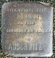 Stolperstein-Rommni Jg 1934 Erm 19440123-Koeln-cc-by-denis-apel.jpg