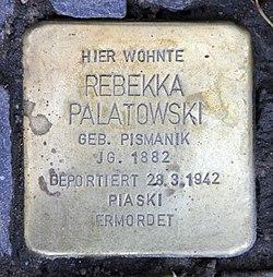 Photo of Rebekka Palatowski brass plaque