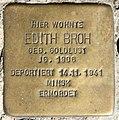 Stolperstein Kaiserdamm 22 (Weste) Edith Broh.jpg