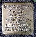 Stolperstein Müllerstr 161 (Weddi) Max Josef Metzger.jpg