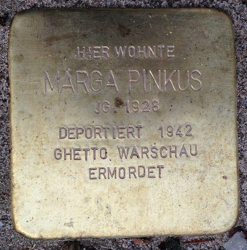 Stolperstein Porta Westfalica Hauptstraße 12 Marga Pinkus