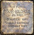 Stolperstein Salzburg, Oskar Goldfuss (Getreidegasse 47).jpg