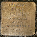 Stolperstein Von-Sauer-Straße 5 (Helene Wertheimer) in Hamburg-Bahrenfeld.JPG