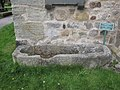 Stone coffin by St Mary's church, Kirkby Lonsdale - geograph.org.uk - 1907974.jpg