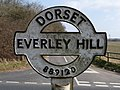 Stourpaine, detail of Everley Hill signpost - geograph.org.uk - 1752163.jpg