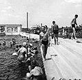 Strand, hullám medence. Fortepan 12128.jpg