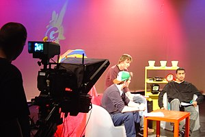 Student television in the United Kingdom - A programme being filmed by the University of Glasgow's student television station, GUST