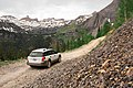 Subaru on the road to Clear Lake. San Juan National Forest, Colorado (27868503841).jpg