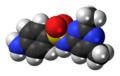 Sulfisomidine molecule spacefill.png