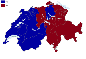 Swiss referendums, 2005 - Image: Swiss Schengen and Dublin treaty referendum results by canton, 2005