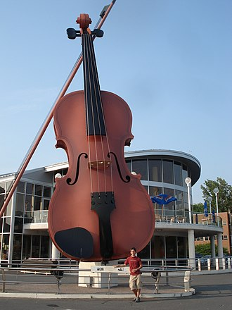 "Sydney, Nova Scotia - The ""Largest Ceilidh Fiddle in the World"". Located at the Sydney waterfront."