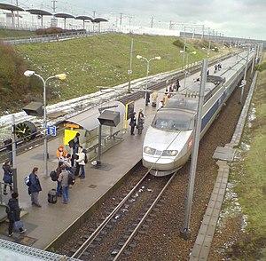 Gare de Calais-Fréthun - SNCF TGV Sud-Est at platform 1