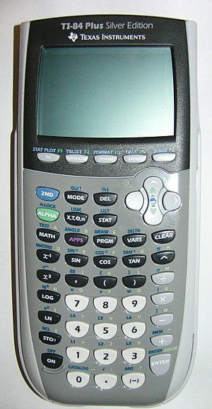 Comparison of Texas Instruments graphing calculators - Image: TI 84 Plus Silver Edition