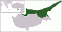 Location map of Turkish Republic of Northern Cyprus.