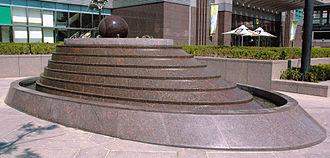 """Feng shui - A modern """"feng shui fountain"""" at Taipei 101, Taiwan"""
