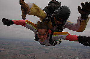 tandem sky-diving in Cordoba, Argentina