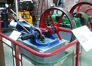 "Bolton Steam Museum - A Tangye Horizontal ""Colonial "" steam engine"
