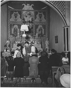 Arroyo Seco, New Mexico - Mass at Arroyo Seco in 1941