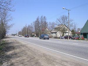 Mõigu - Tartu road in Mõigu.