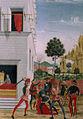 Tavolette di s. bernardino, 1473, san bernardino appare di notte a giov.antonio tornato ferito in un agguato e lo risana.jpg