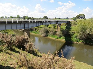 Waipa River - Te Rore bridge from south