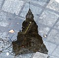 Terminal Tower Puddle Reflection (13484334223).jpg