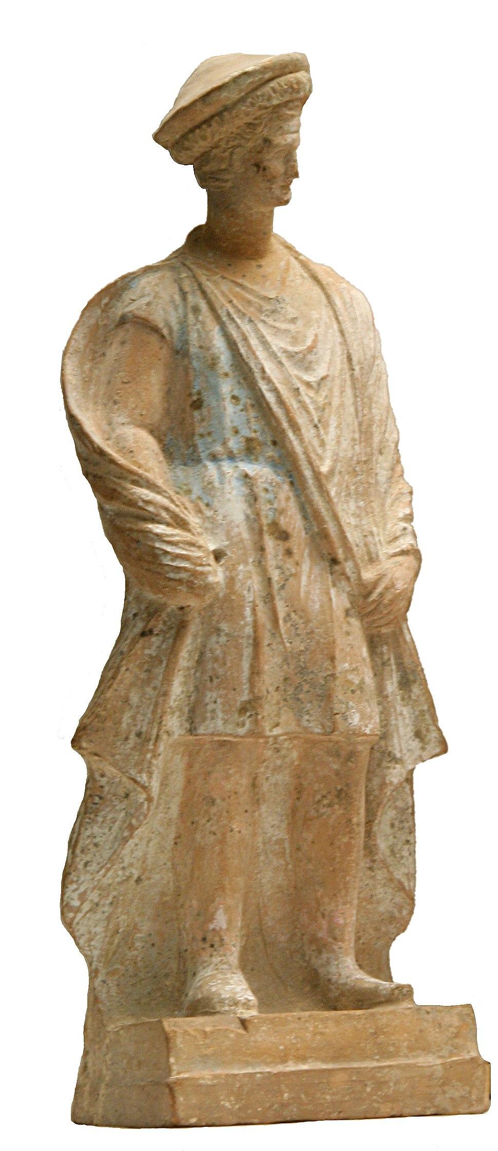 Terrakota Statue eines Makedoniers 3 Jhdt v Chr