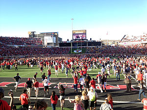 2012 Texas Tech Red Raiders football team - Image: Texas Tech Fans Rush Field After WVU Win