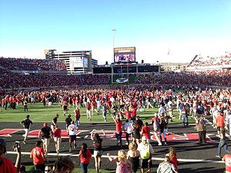 2012 Texas Tech Red Raiders football team - Image: Texas Tech Fans Rush Field After WVU Win