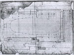 Paris Opera - Vigarani's plan of the Salle du Palais-Royal