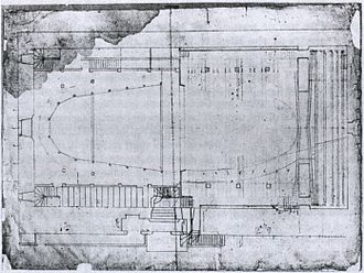 Paris Opera - Vigarani's plan of the Salle du Palais-Royal