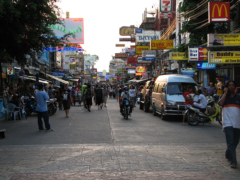 Bankoks Khao San Road via Wikimedia Commons